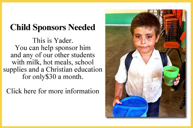Child Sponsors Needed - Click on the image above for more information.